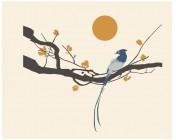 【KT-2670】梅花 仙鹤 太阳  矢量图