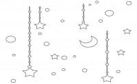 【KT-2729】星星月亮吊坠  矢量图