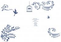 【KT-2722】树叶 小鸟 鸟笼 蝴蝶  矢量图