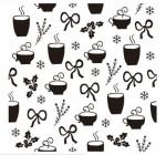 【BO-322】树叶 咖啡杯 雪花  矢量图