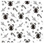 【BO-312】树叶 铃铛 雪花  矢量图