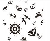 【DZH-811】大雁 船舵 螃蟹 船矛  矢量图