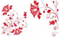 【DJH4】类似喇叭花 对花矢量图