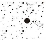 【KT-2724】月亮 星星 北斗七星   矢量图