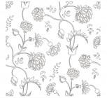 【MS-153】多瓣花藤类壁纸花矢量图