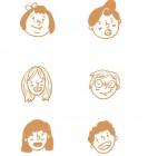 【OS-2133】人物头像 矢量图