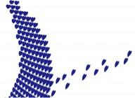 【XD-5203】心形壁纸花 矢量图