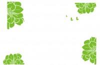 【XD-591】多瓣花散花 蝴蝶 矢量图