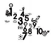 【XD-5111】数字一到十 矢量图