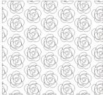 【XD-5141】玫瑰壁纸花 矢量图