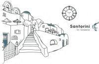 【KT-2732】建筑  时钟 santorini 矢量图