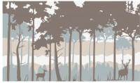 【KT-2778】鹿和树 矢量图