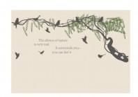 【KT-2843】树藤 小鸟 英文  矢量图