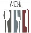 【KT-2861】刀叉 menu 矢量图