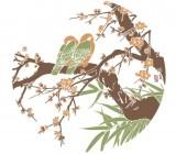 【KT-2872】树 鸟笼 竹子 矢量图