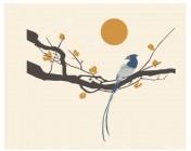 【KT-2891】梅花 喜鹊 太阳   矢量图