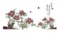 【KT-2911】牡丹 小鸟 矢量图
