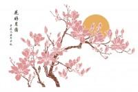 【KT-2895】玉兰花 花好月圆  矢量图