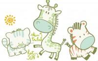 【KT-2938】卡通长颈鹿 太阳 猫咪 矢量图