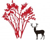 【KT-2941】鹿 树   矢量图