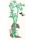 【KT-2993】竹子 山 小鸟  矢量图