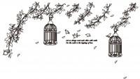 【KT-2973】树叶 鸟笼   矢量图