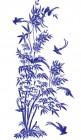 【KT-3221】竹子 小鸟 矢量图