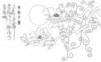 【KT-3224】玉兰花 太阳  矢量图