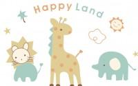 【KT-3238】长颈鹿 happy land  矢量图