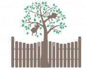 【KT-3223】栏栅 猴子挂树 矢量图