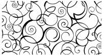【KT-3296】藤类壁纸花 线条   矢量图