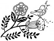 【KT-3314】树叶 树枝 小鸟  矢量图