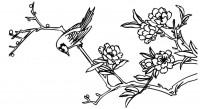 【KT-3334】玉兰花 喜鹊 矢量图