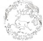 【KT-3317】鹿 矢量图