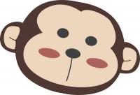 【CX-138】猴子头像 矢量图