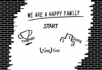 【CX-149】砖艺 we are a happy family 123 矢量图