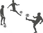 【CX-170】踢足球   矢量图