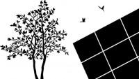 【CX-165】树 小鸟 魔方   矢量图