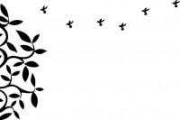 【CX-148】树叶 小鸟 花藤   矢量图