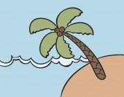 【CX-204】椰树 矢量图