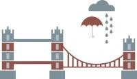 【CX-260】雨伞 白云 桥梁  矢量图