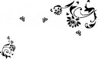 【CX-279】蝴蝶对花 多瓣花藤  矢量图