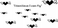 【CX-271】爱心 l benlieve l can fly  矢量图