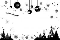 【CX-282】雪花爱心墙挂 圣诞树 五角星  矢量图