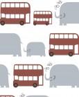【CX-259】公交车 大象   矢量图