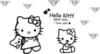 【CX-310】hello kitty 猫咪 矢量图
