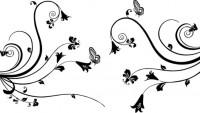 【CX-336】蝴蝶对花  矢量图