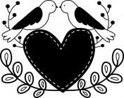 【CX-347】爱心 小鸟  矢量图