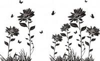 【CX-378】太阳花 蝴蝶 矢量图