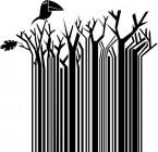 【CX-395】树 小鸟 乌鸦 矢量图